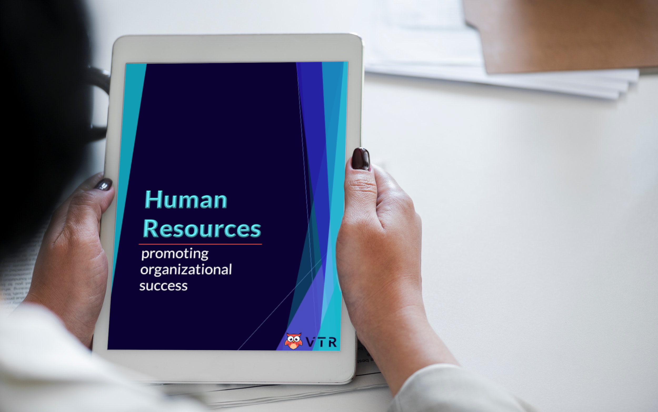 Human Resources ebook open on a tablet